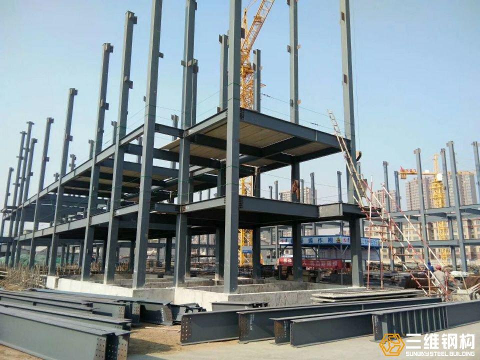 滕州学校多层教学楼钢结构工程施工