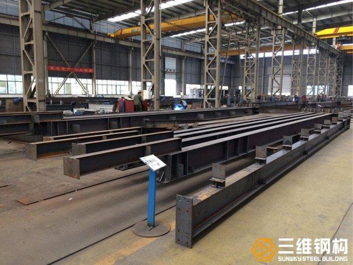 山东各类轻重型钢结构组立焊接加工找三维钢构