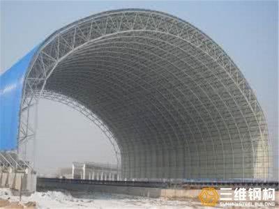 钢结构工程---网架煤棚项目