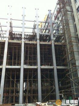 济空军7层接待楼钢结构工程