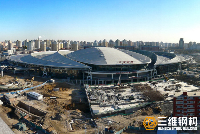 三维钢构承接北京南站钢结构工程