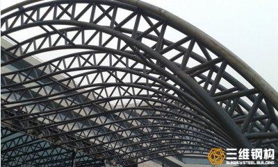 拱形桁架钢结构工程施工