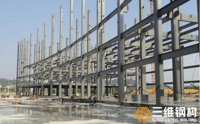 上海舜元多层办公楼钢结构工程施工