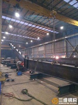 钢结构厂家承接H型钢人字钢梁加工