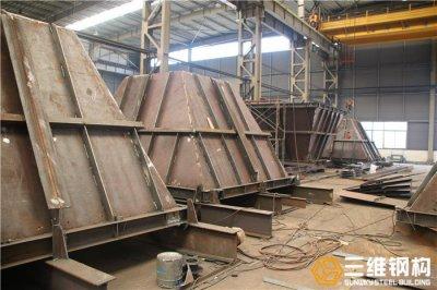 山东钢结构工程公司承接砂石料仓出口加工