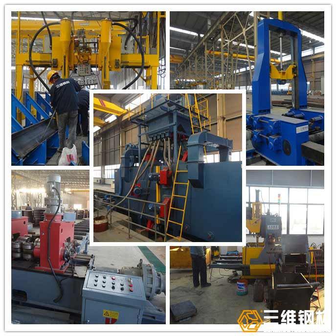钢结构加工生产所用到的各种机械设备